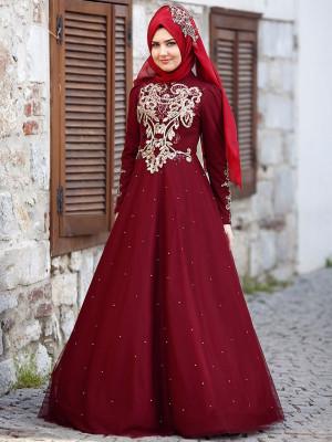 Rana Bordo Abiye Elbise